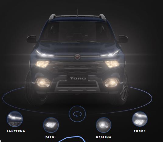 Novo Toro Fiat 2020 - Detalhes da versão