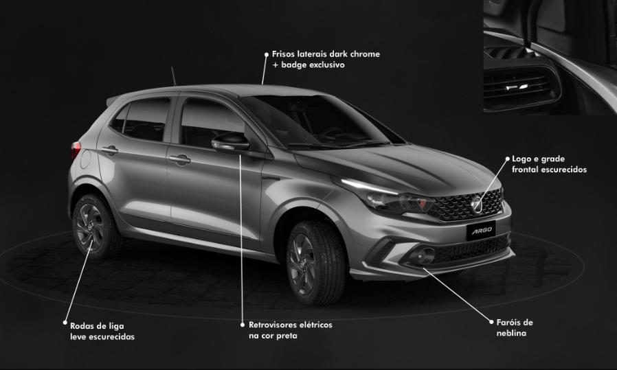Fiat Argo, versão 1.3,  com S-Design