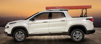 Acessórios Fiat Toro: Porta-escadas para caçamba