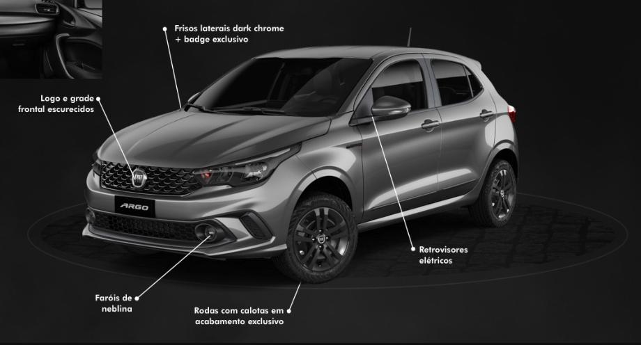 Fiat Argo, versão 1.0, com S-Design