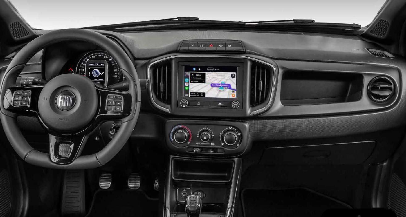 Nova Fiat Strada central multimídia